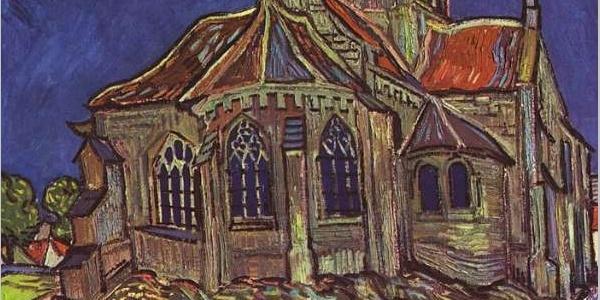 L'église d'Auvers, par Vincent Van Gogh