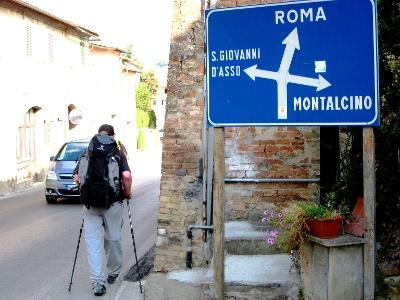 Kurs auf Rom in Torrenieri