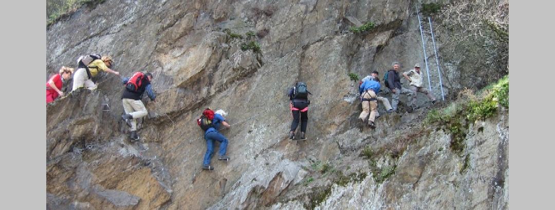 Am Mittelrhein-Klettersteig Boppard