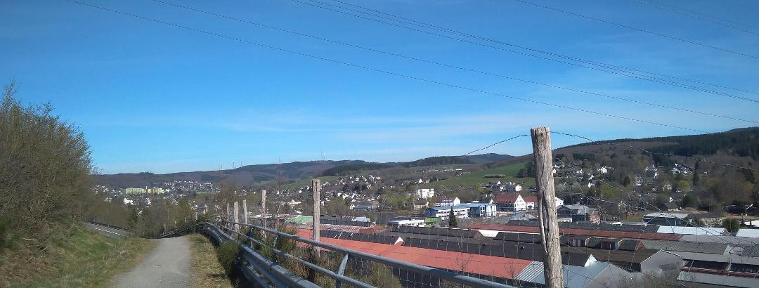Fahrradweg in Kreuztal