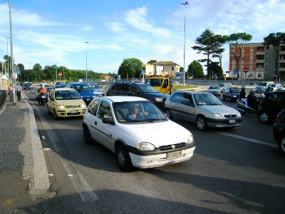 Feierabendverkehr in Rom