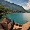 Vue sur le lac Leman depuis le château de Chillon