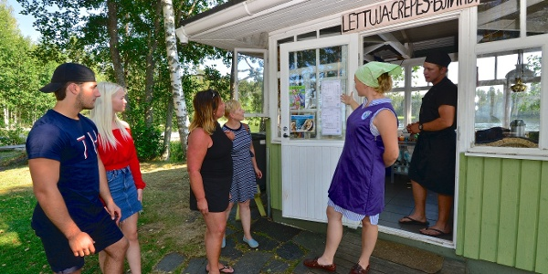 The famous pancake kiosk in Nestorinranta, Saimaa