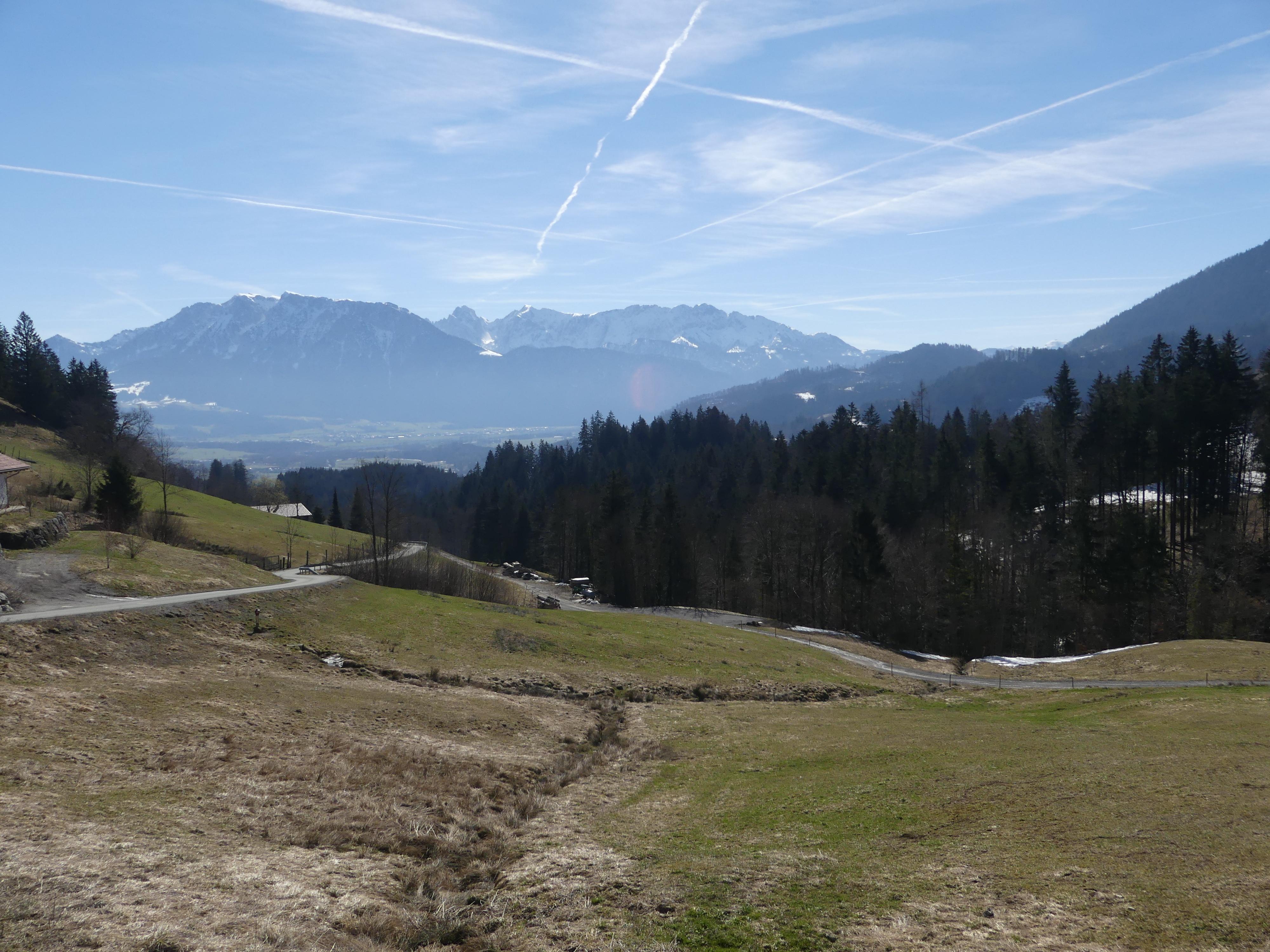 Aussicht auf das Kaisergebirge