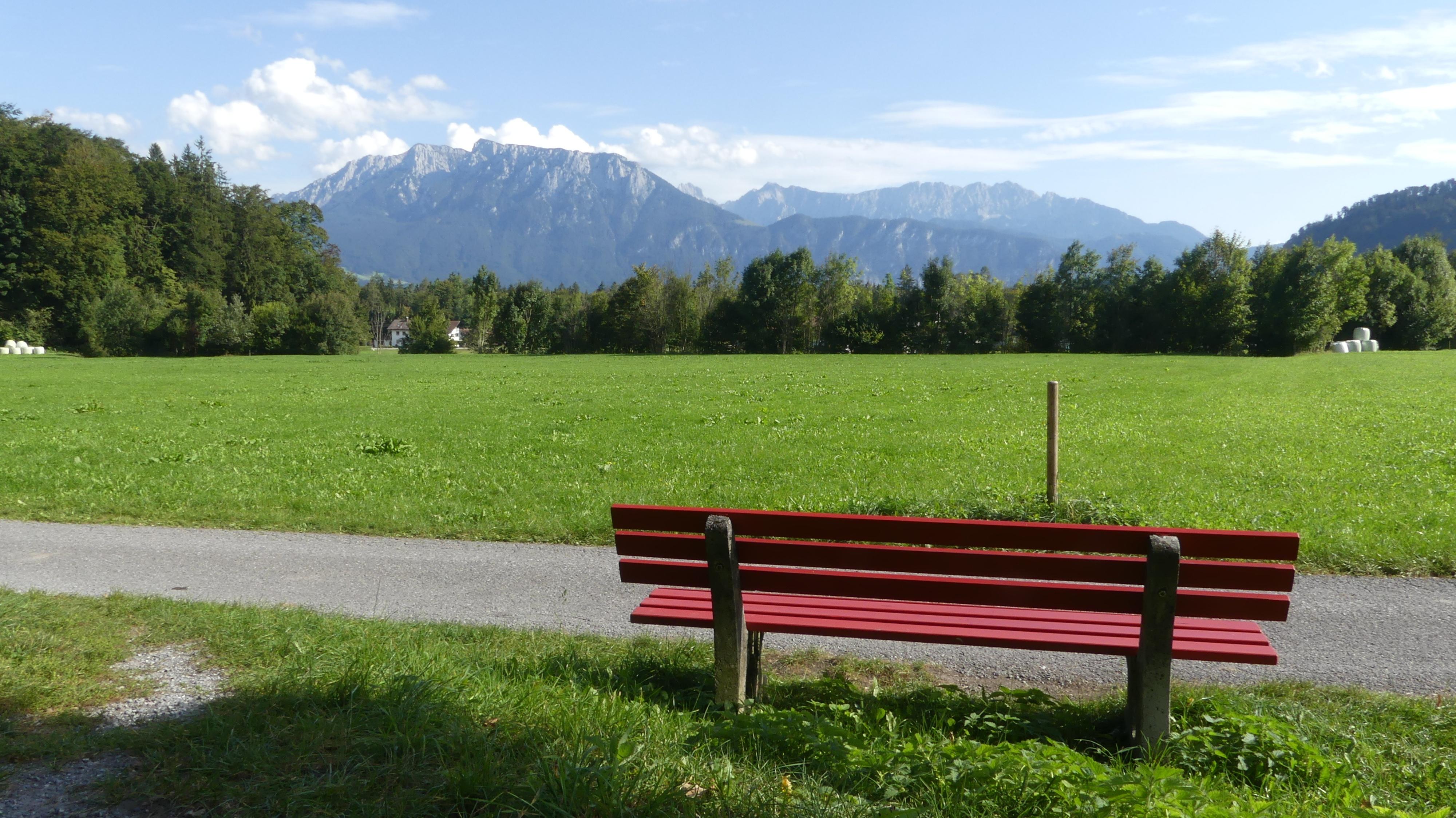 Aussicht auf das Kaisergebirge, Feldweg Agg Richtung Niederaudorf
