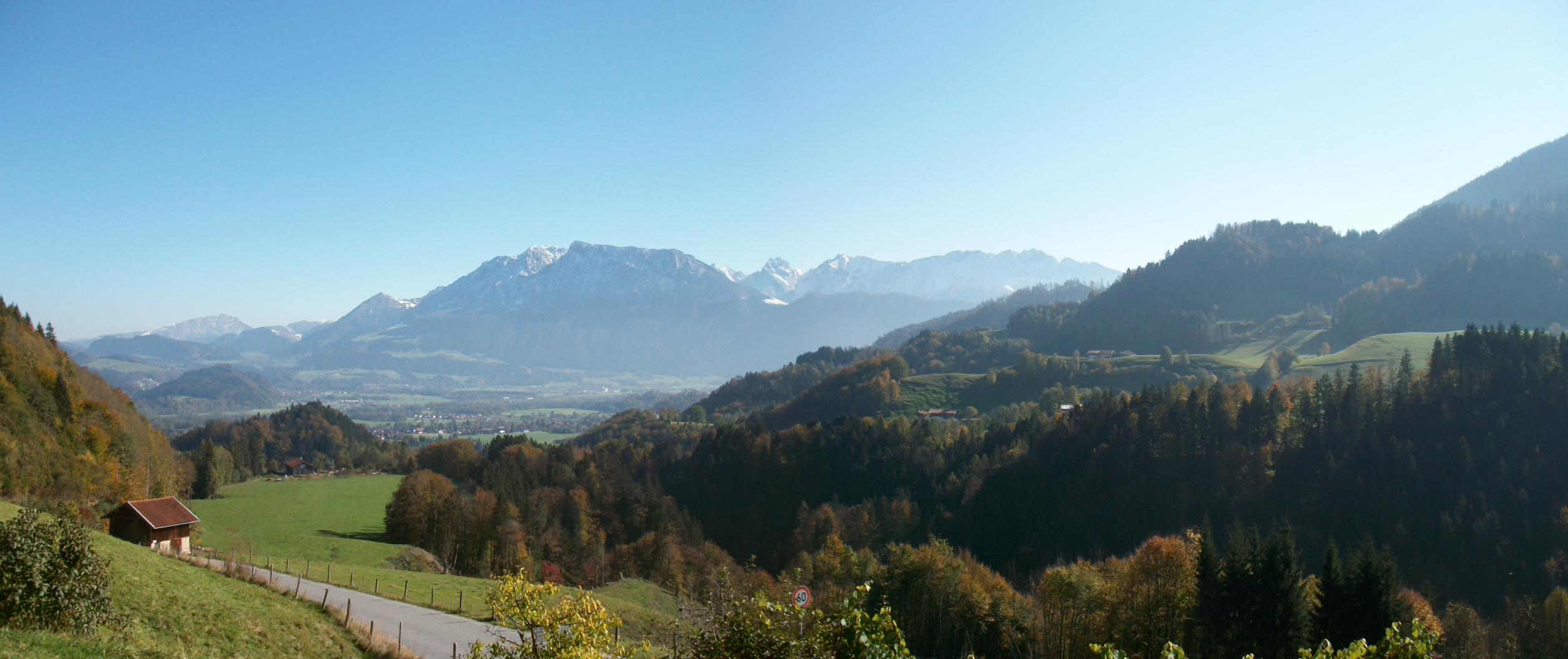 Aussicht Hummelei auf da Kaisergebirge