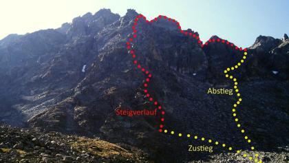 Klettersteig Nauders : Weg der freunde nauders bergsteigen