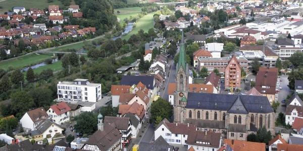 Burg Husen, Blick nach Hausach