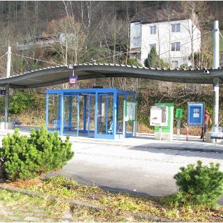 Bahnhalt am P+R Wolfach