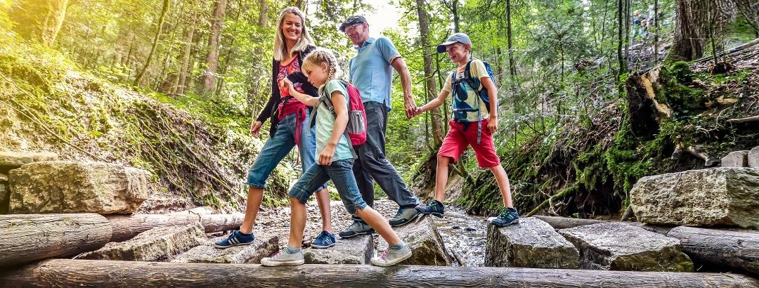 Erlebniswanderung mit der ganzen Familie auf dem Waldlehrpfad in Möggers