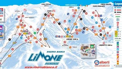 Pistenplan Riserva Bianca Limone Piemonte
