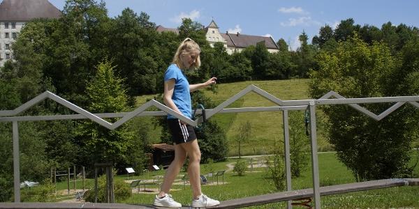 "Station ""Heißer Draht"" des Schloss-Aktiv-Park"