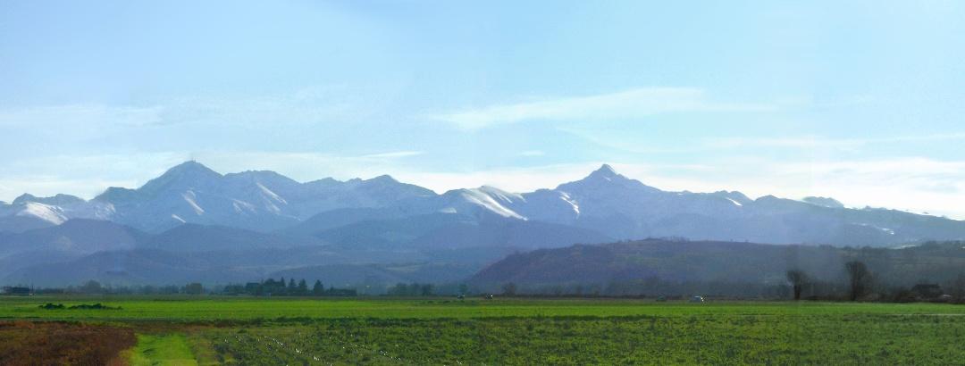 Blick zu den Pyrenäen