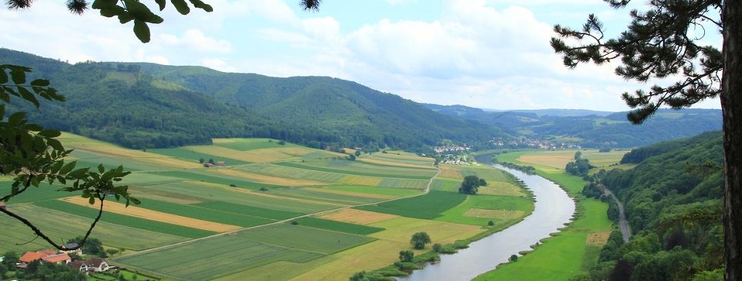 Ausblick auf die Weser bei Bodenwerder