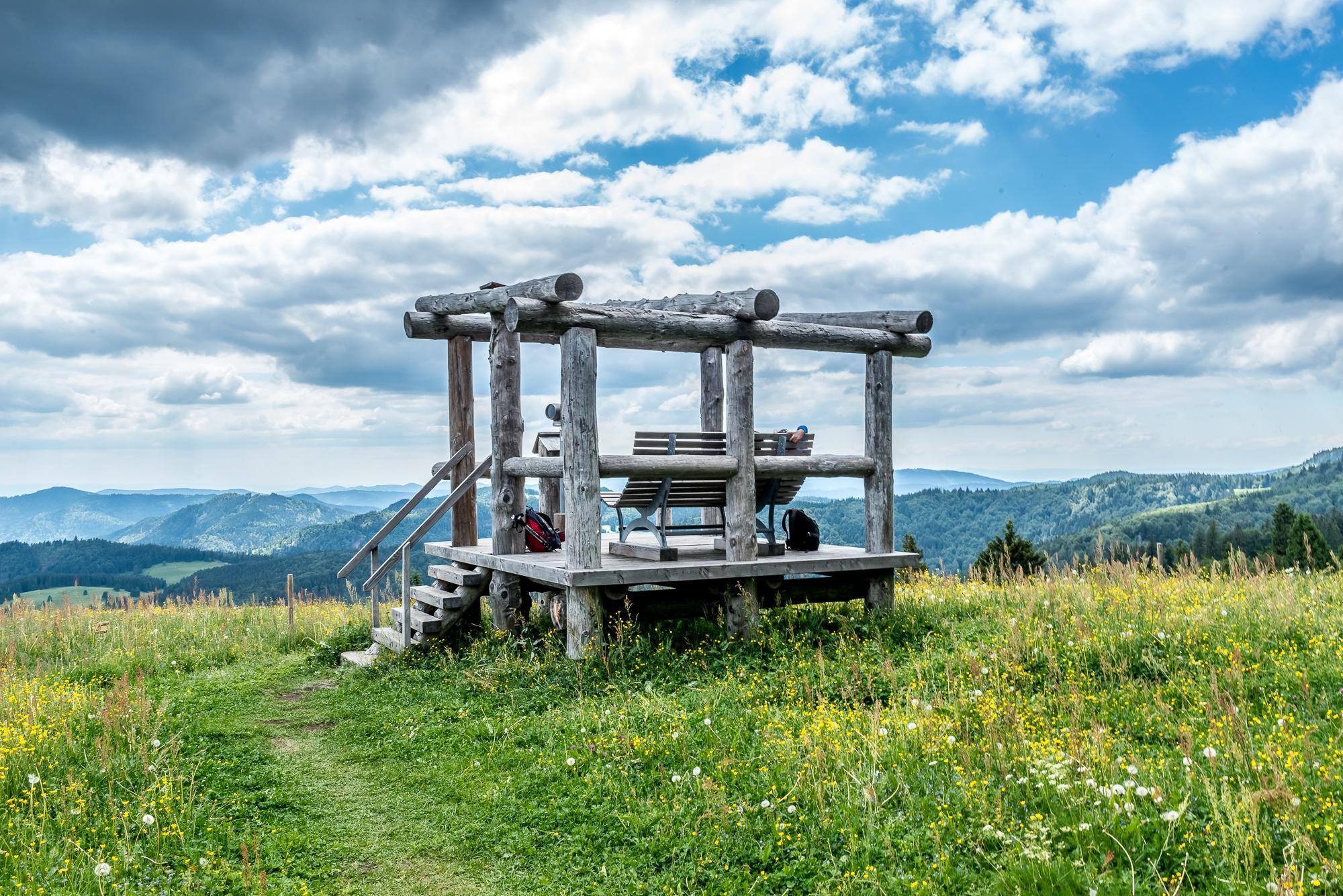 Aussicht und Vioskop am kleinen Spießhorn