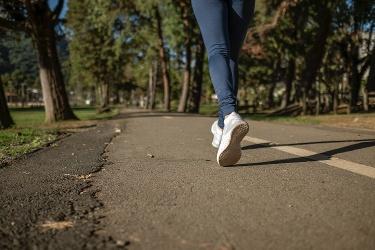 Spaziergang während der Ausgangsbeschränkung