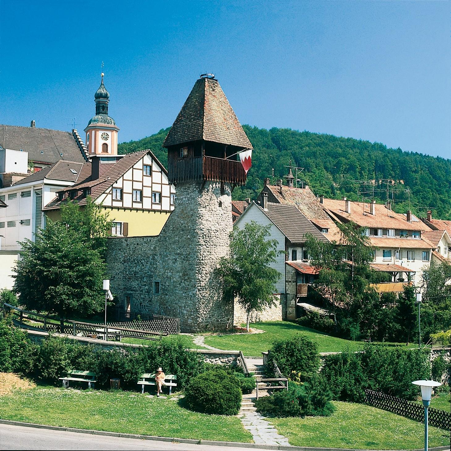 Storchenturm und Kirche Maria Himmelfahrt