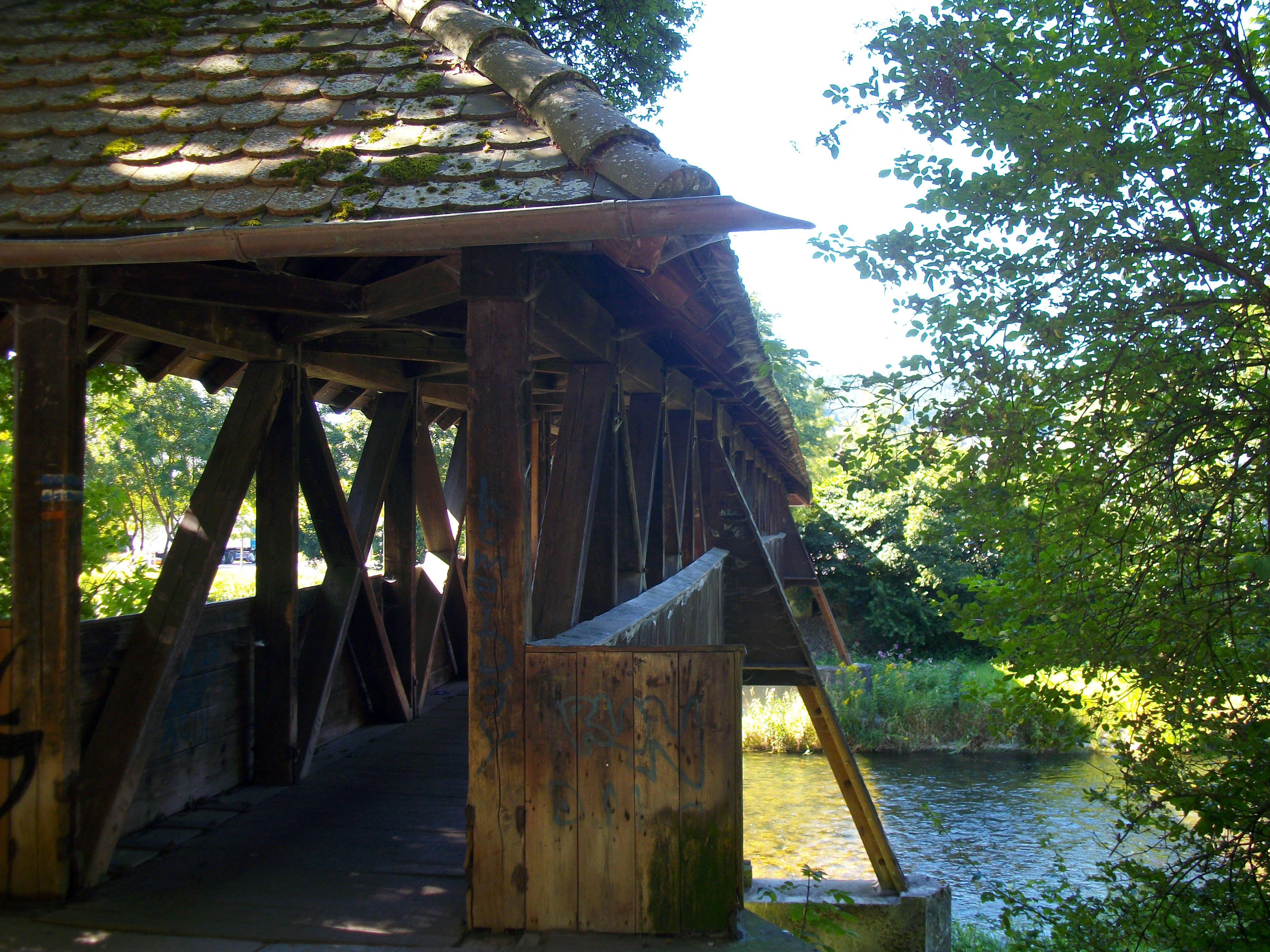 Historische Holzbrücke an der Wutach