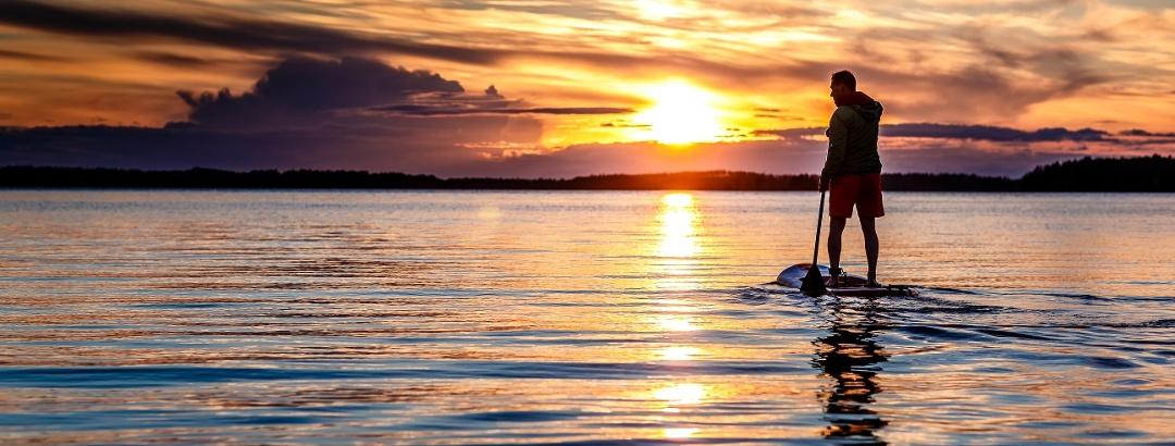 Sonnenuntergang in Saimaa