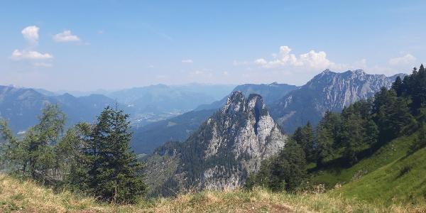 Blick auf den Sparber Gipfel von der gegenüberliegenden Bleckwand aus