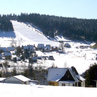 Panorama Skihang Carlsfeld am Hirschkopf