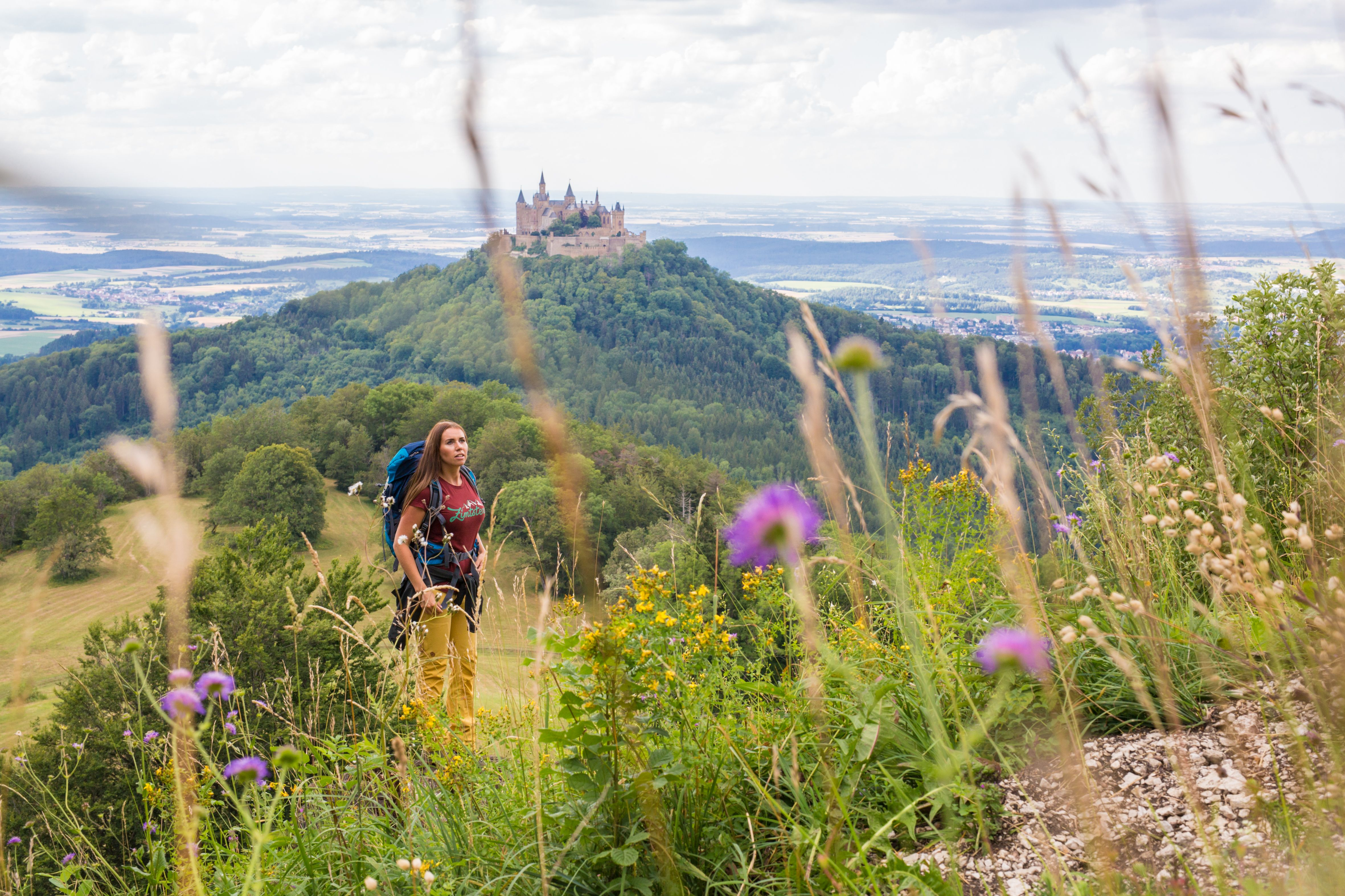 Zeller Horn mit Blick auf die Burg Hohenzollern