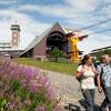 Fichtelberg mit Bergstation der Schwebebahn und Fichtelberghaus