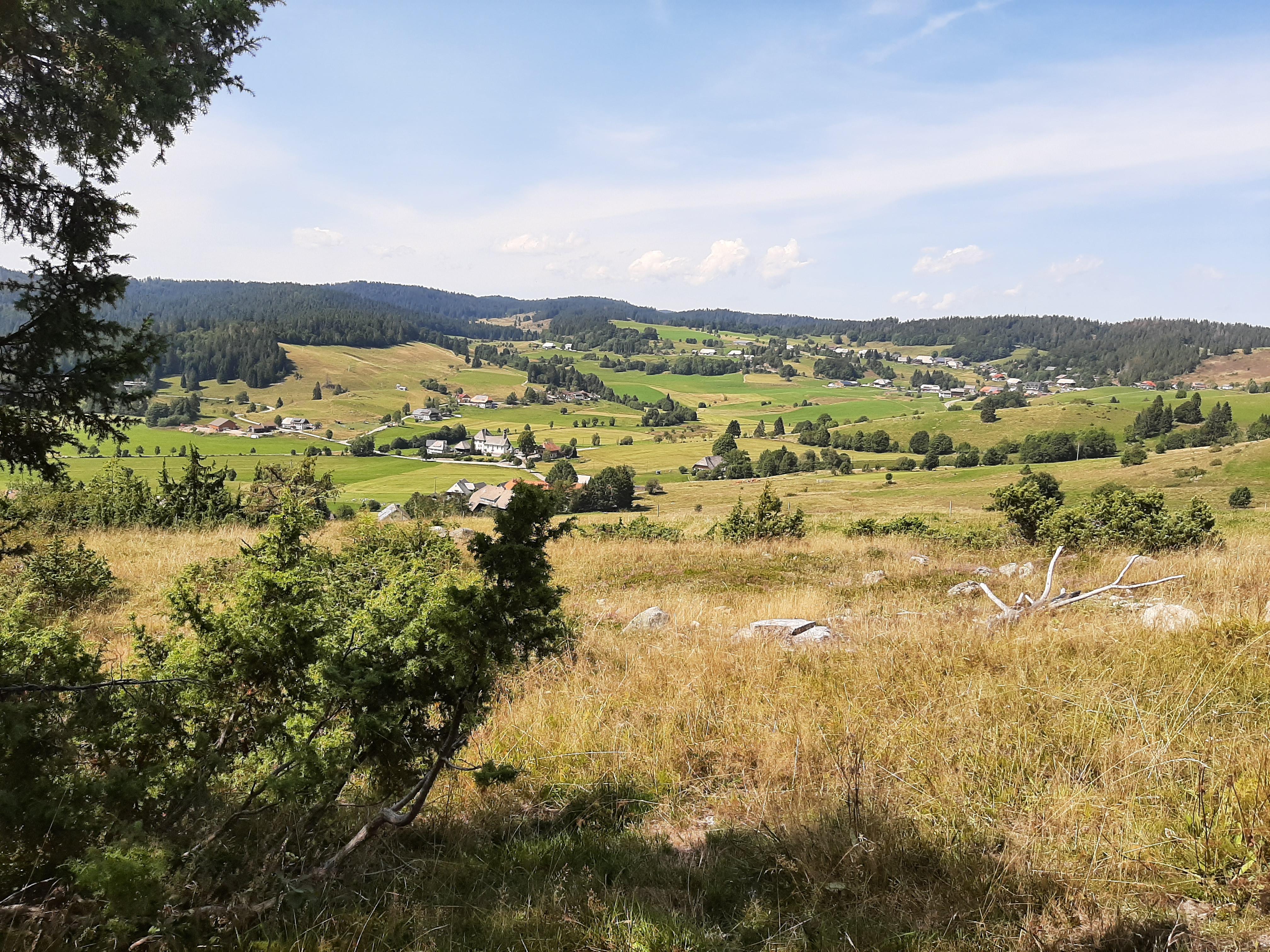 Blick von der Engländerhütte auf Ibach