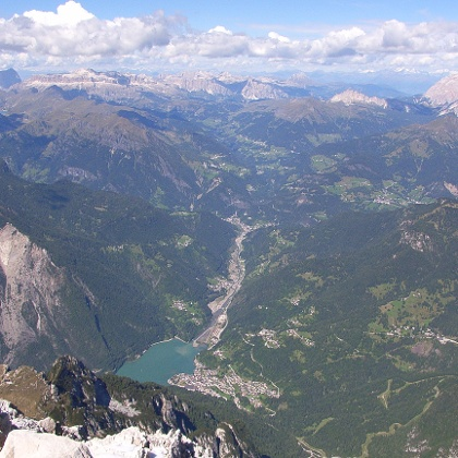 Lago di Coldai vom Monte Civetta aus