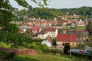 Foto Blick im Aufstieg auf Stadt Wehlen