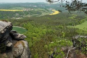 Foto Blick vom Lilienstein nach Rathen