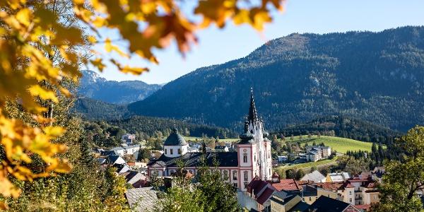 Blick vom Buschniggweg auf Mariazell