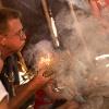 Feuer machen im Archäopark Vogelherd