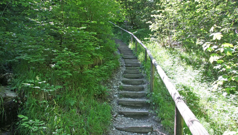 Gießenbachklamm Kiefersfelden Aufstieg 130 Stufen