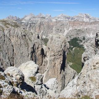 Blick von der Cima Pisciadù (2985 m).