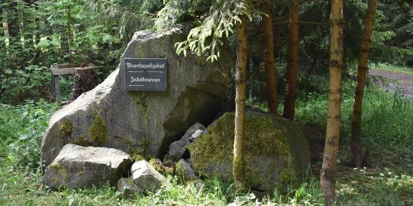 Stein am Quellgebiet