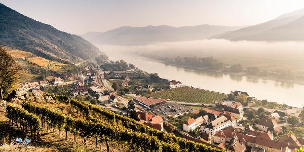 Aussicht vom Spitzer 1000-Eimer-Berg auf die Donau