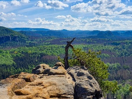 Foto Eine der schönsten Aussichtsstellen in der Hinteren Sächsischen Schweiz