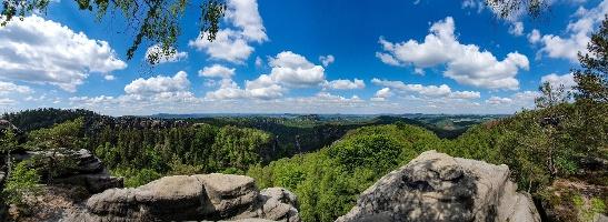 Foto Panorama vom Carolafelsen