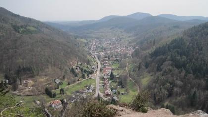 Ausblick vom Beutelsberg auf Eußerthal