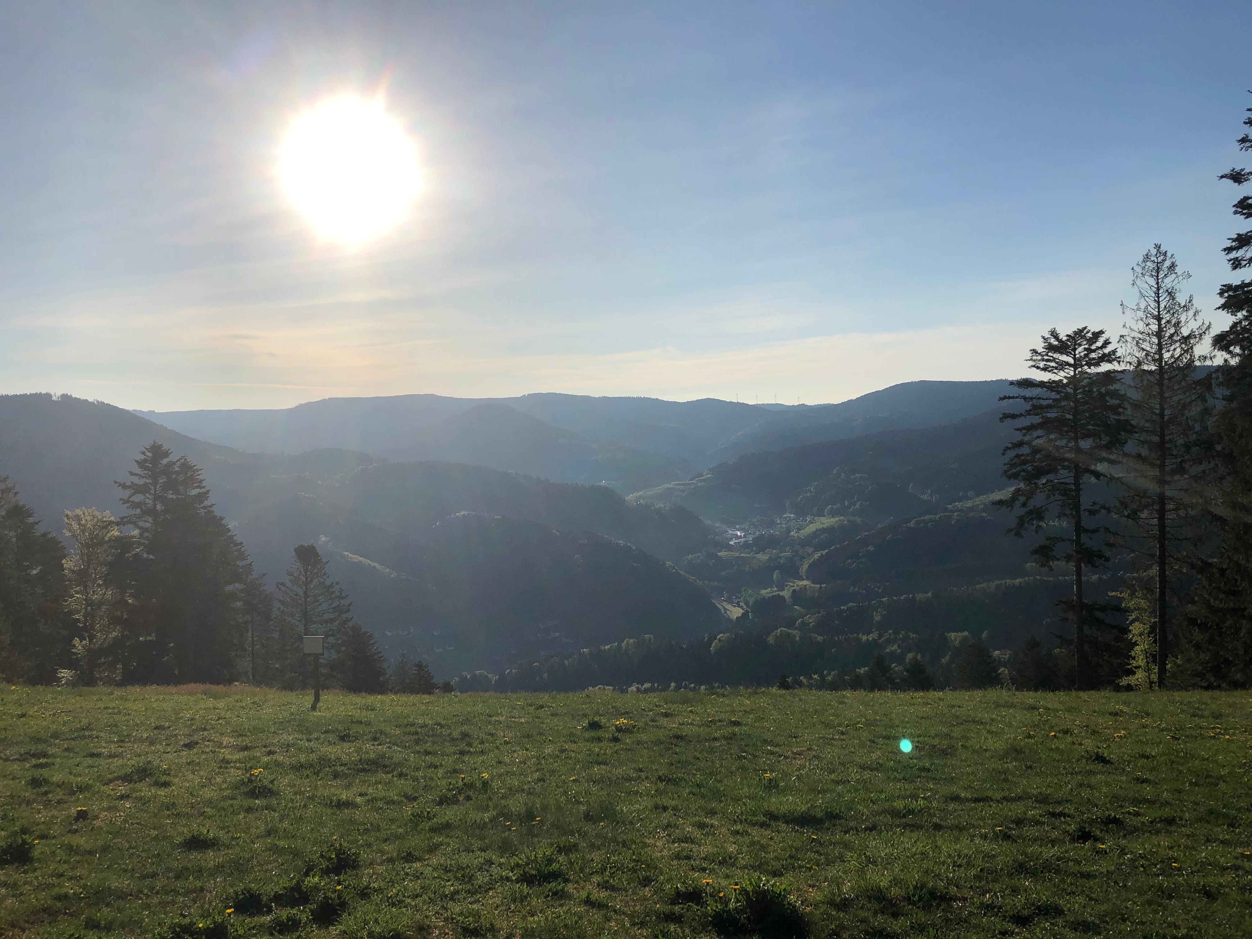 """""""Guten Morgen"""" auf dem Schäfersfeld, Absprungschanze der Gleitschirmflieger"""
