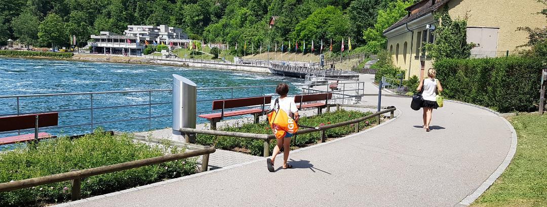Einwassern beim Rheinfall