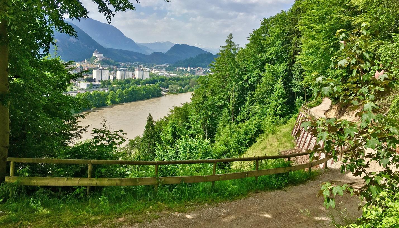 Höhenweg übe dem Inn von Kufstein nach Kiefersfelden