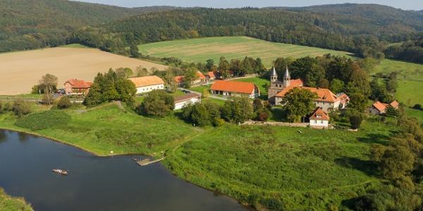 Luftbild von der Klosteranlage