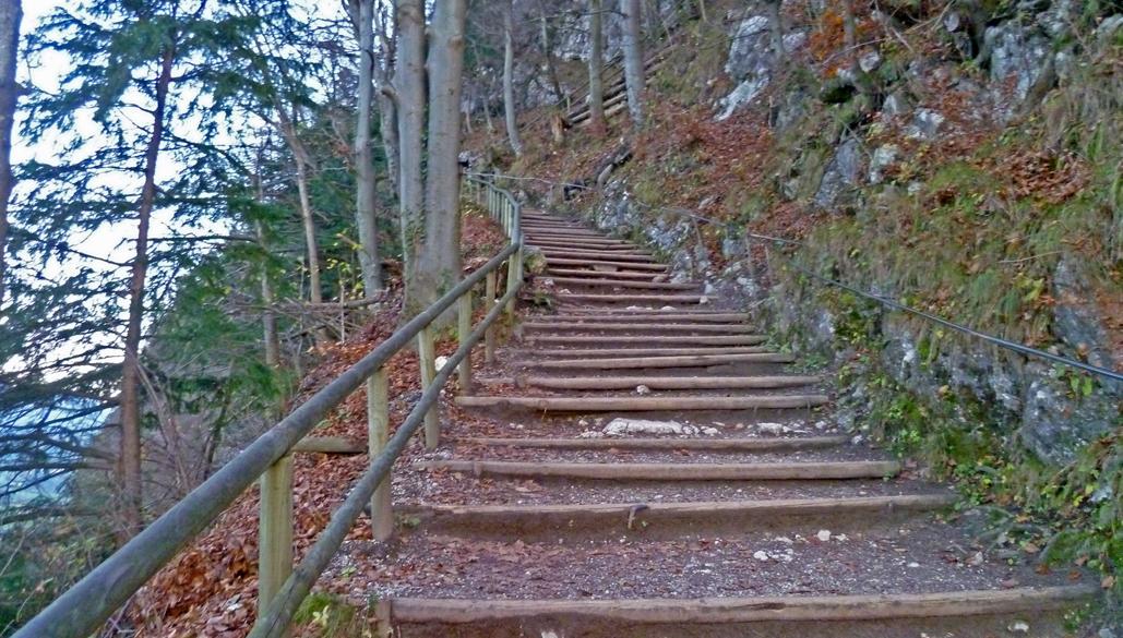 Kaisertalaufstieg Treppen
