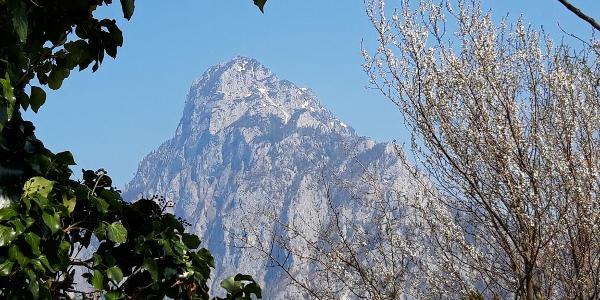 Blick auf den Traunstein - während des Abstieges von der Geisswand