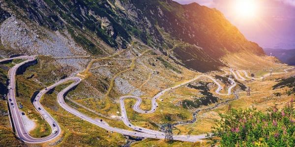 Transfagarasan highway, probably the most beautiful road in the world, Europe, Romania (Transfagarashan)