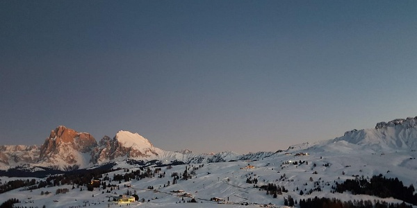 Beautiful view of the Sassolungo and Plattkofel