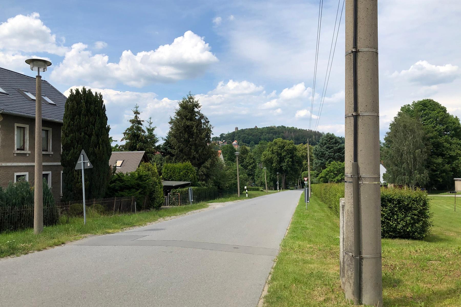 Weg vom Bahnhof nach Stolpen