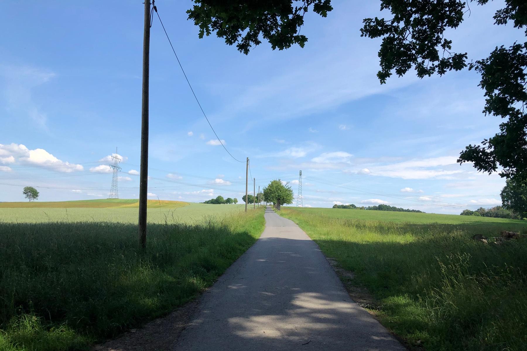 Radweg zwischen Buschmühle und Lauterbach